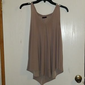 Tan/nude dressy sleeveless top